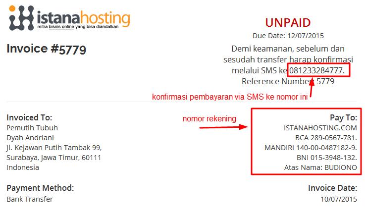 tagihan hosting