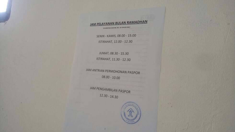 jam pelayanan kantor imigrasi