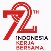 logo hut ri 72 tahun indonesia kerja bersama