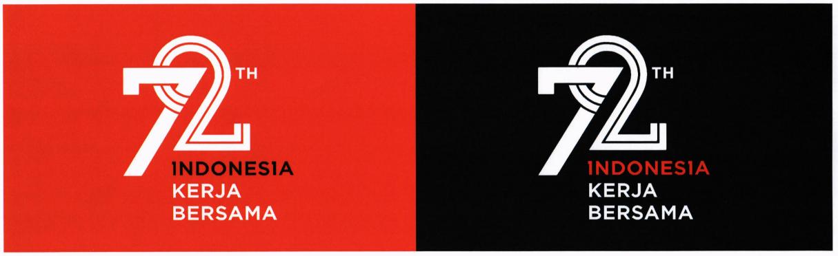 penggunaan logo 72 tahun indonesia merdeka